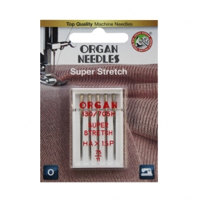 Organ Needles Super Stretch, 75-90 (блистер)